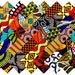 """40 4"""" Fabric Squares African 20 Patterns Quilting Patchwork"""