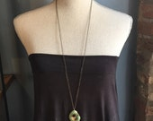 Reserved for deanne/ Long necklace with pendant