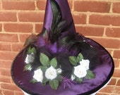 Gothic Purple Witch Hat