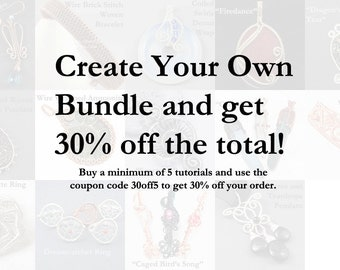Create Your Own Tutorial Bundle and get 30% off! Use Coupon Code 30off5 Wire Jewelry Making Tutorials