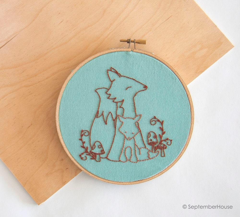 Hand embroidery patterns baby animals beginner
