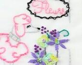 Poodle Embroidery Pattern Le Caniche Embroidery Design Paris Poodle Dog Embroidery Pattern Standard Poodle