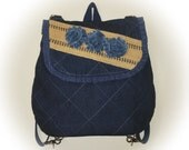 FREE Shipping USA Canada - TOOTLES Backpack Bag - Pre-Washed Denim Fabric - - (Ready to Ship)