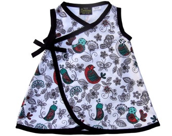Peep Of Color - Black And White Dress - Modern - Minimalist - Conscious Children's Clothes - Toddler Dress - Girls Dress - 4t - 5t- 6