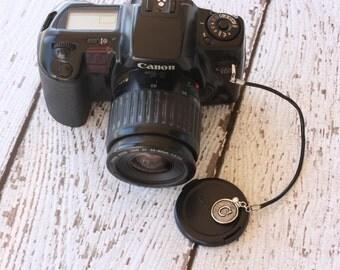 Lens Cap Leash, Camera Strap Lens Cap Holder - Monogram, Initial