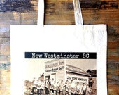 New West BC in 1933 tote bag