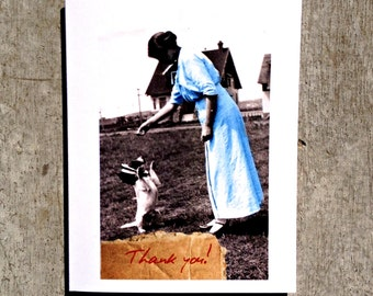 Victorian dog Thank you card #52