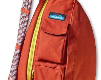 Monogrammed Kavu Rope Bags - Rust - Great gift for College, Teens, Women, Outdoors Satchel Crossbody Tote