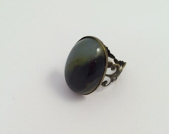 Big and bold agate ring - Adjustable