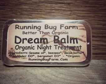 Dream Balm Organic Night Treatment Lavender Bergamot Temple & Lip Therapy Aromatherapy Natural Chap Stick Nightime Body Care Non GMO
