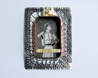 I am the Queen - tin shrine, reliquary, niche