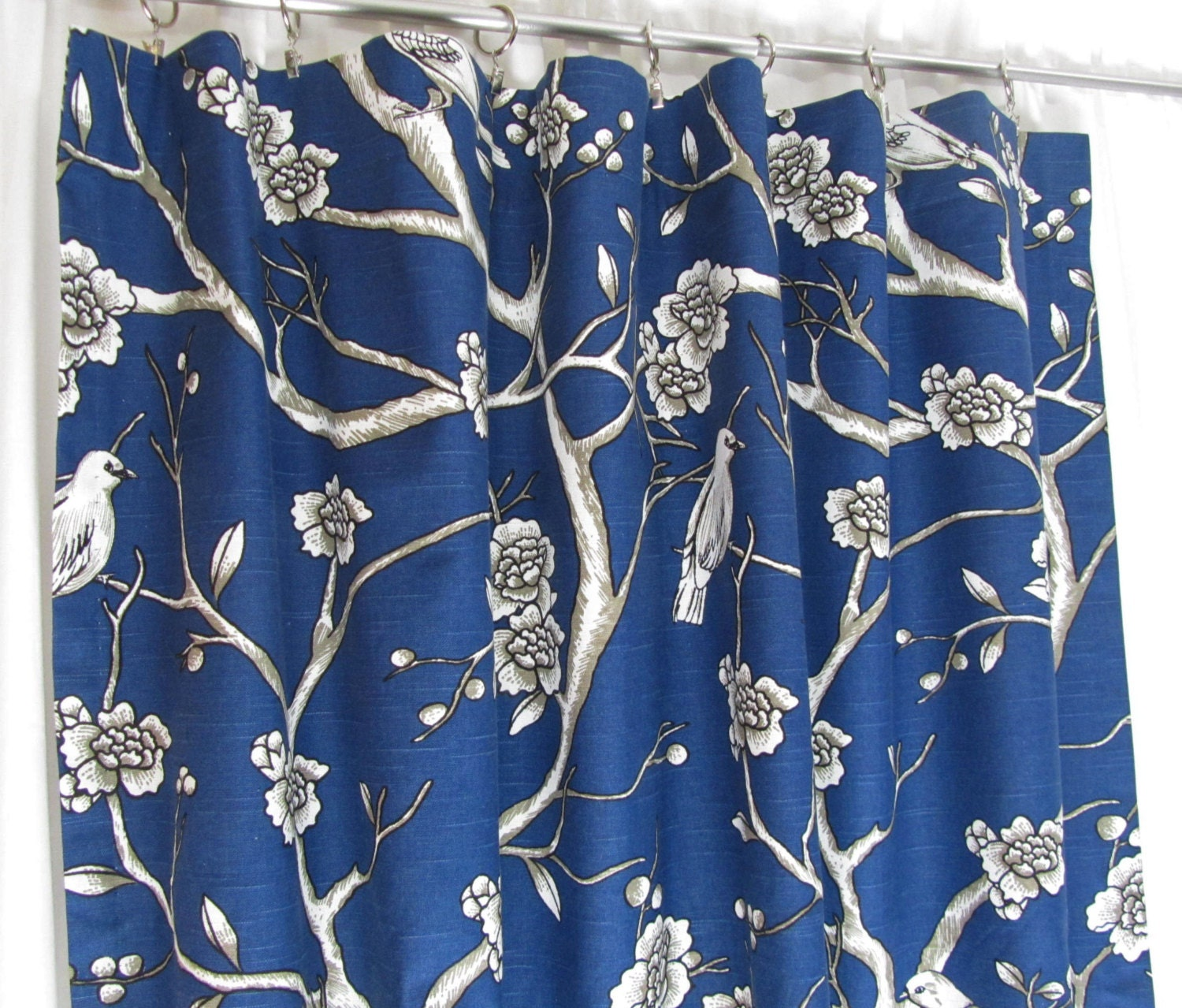 Navy Blue Bedroom Curtains Navy Curtains Etsy