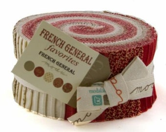 Jelly Roll French General Favorites Quilting Strips by Moda Fabrics