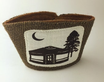 Yurt Living Coffee/Beer Cozy with Gift Card Holder Option
