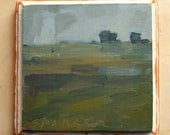 The Greens Are Gray | Oil Painting Landscape Painting | 5 x 5