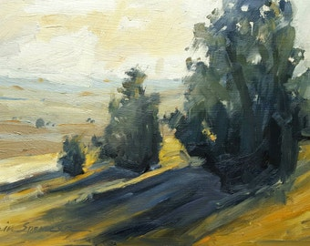 The Day Is Long | Original Landscape Oil Painting | 7.75 x 12