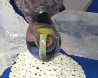 Funky Fungus Magic Mushroom Glass Pendant
