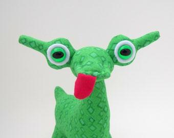 Alien Toy, Alien Plush, Cute Monster Plush, Stuffed Animal Dragon by Adopt an Alien named Orden