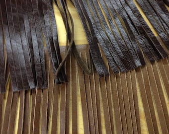 Leather  Fringes for embellishment of purses , jackets or other accessories, sold by ft
