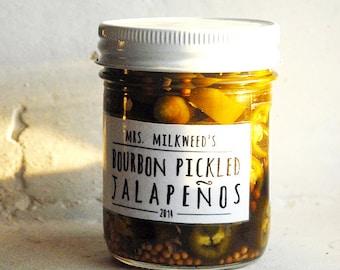 Organic Bourbon PIckled Jalapenos 8-oz Peppers Pickles Nachos