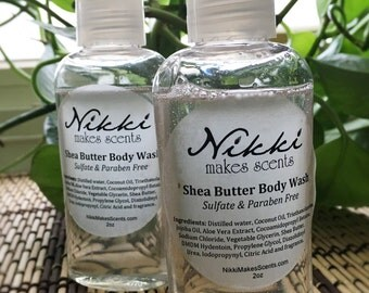 Shea Butter Body Wash Sample - SPA/AROMATHERAPY  fragrances (your choice)