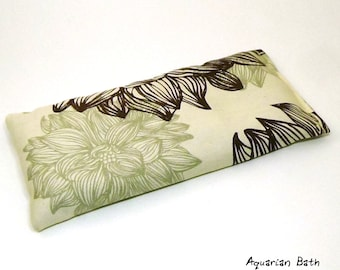 Organic Cotton Eye Pillow - Yoga pillow - tan - unscented or with lavender