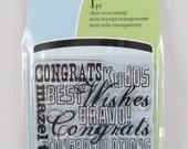 Inkadinkado Clear Mini Stamp - Congratulations - RS003