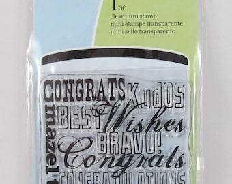 Inkadinkado - Congratulations - Clear Mini Rubber Stamps #RS003