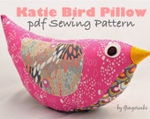 Katie Bird Pillow PDF Pattern Easy Fast Adorable