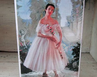 Pretty Ballerina Tin - Edwards Sharp Toffees - Great Britain - 1950s