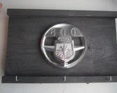 1955-60 FORD 800 tractor hood ornament  -  Vintage tractor emblem - sign & key-hat hanger no. 60