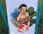 SENORITA Olivia Ruffled Mexican Kitchen TOWEL CUSTOM