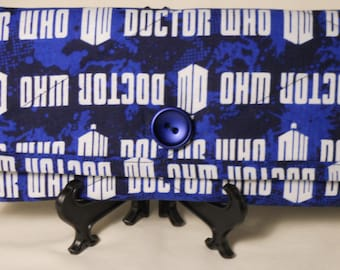 Dr. Who Wallet / Dr. Who Quilted Wallet / Dr. Who Fabric Wallet / Trifold Wallet / Womens Wallet