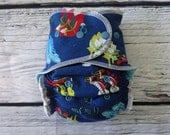One Size Stay Dry Overnight Fitted Cloth Diaper in If the Shoe Fits