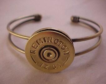 12 Gauge Shell Bracelet - Remington 12 Gauge Shotgun Shell