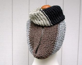 cowl-a-bunga. infinity scarf knitting pattern . chunky circle scarf knit pattern . loop scarf knit pattern . oversized cowl knitting pattern