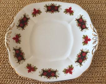 Royal Adderley Maple Leaf Plate