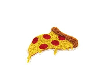 Pizza Chainstitch Patch