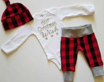 Newborn boy christmas outfit | Etsy