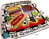 """CUSTOM 15""""  squared Family  BBQ Platter Personalized Grilled to perfection"""