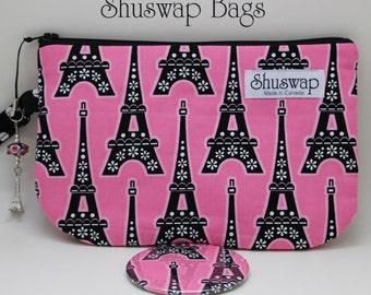Eiffel Tower Wristlet and Mirror Set