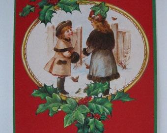 Vintage Christmas Postcard. 1980 Era