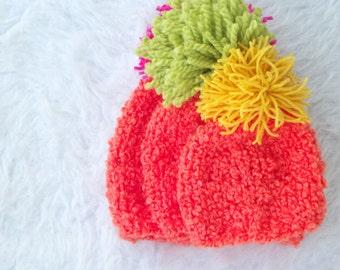 Knit Hat, Orange Beanie, Toddler Knit Hat, Childrens Knit Beanie, Winter Hat for Man, Winter Hat for Women, Cute Ski Hat, Snowboard Hat
