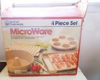 SALE Microwave cookware, Microware, kitchen ware, fast cooking, vintage cooking, vintage microwave, wedding present, housewarming gift