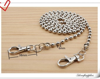 120cm Nickel ball  chains for purse  K135