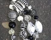 Zebra Knotted Necklace