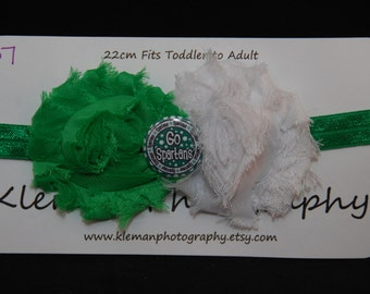Toddler to Adult Michigan State University Spartans Headband #2-READY TO SHIP