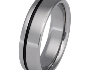 Black Titanium Ring - Wedding Band - bk2