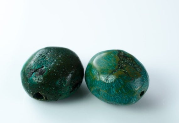 Turquoise Pebble Beads