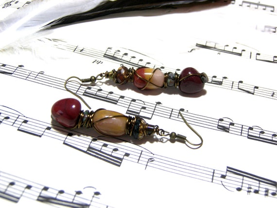 Cyber Monday Sale Jasper Earrings Moukaite Earrings Rustic Earrings Top Selling Jewelry Most Popular Earrings